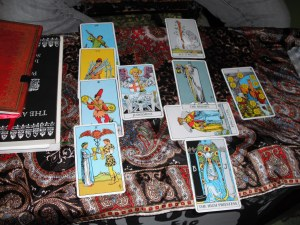 Tarot Spread read by Jake via Terrell's camera